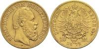 10 Mark 1872 F Württemberg, Königreich Karl 1864-1891 ss  240,00 EUR  zzgl. 6,90 EUR Versand