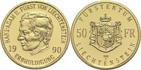 50 Franken 1990 Liechtenstein Hans Adam II. PP  465,00 EUR  zzgl. 6,90 EUR Versand