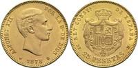 25 Pesetas 1878 Spanien Alfonso XII. vz  380,00 EUR  zzgl. 6,90 EUR Versand
