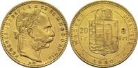 8 Forint 1880 Ungarn Franz Joseph I. ss+  275,00 EUR  zzgl. 6,90 EUR Versand