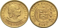 1 Libra 1917 Peru  ss+  370,00 EUR  +  14,90 EUR shipping