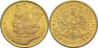 10 Zloty 1925 Polen  vz  340,00 EUR  zzgl. 6,90 EUR Versand