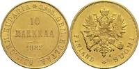10 Markkaa 1882 S Finnland Alexander III. ss-vz  350,00 EUR