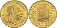 8 Forint 1878 Ungarn Franz Joseph I. ss-vz  290,00 EUR  zzgl. 6,90 EUR Versand