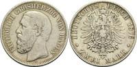 2 Mark 1876 G Baden, Großherzogtum Friedrich I. 1856-1907 s-ss  65,00 EUR  +  14,90 EUR shipping