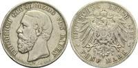 5 Mark 1895 G Baden, Großherzogtum Friedrich I. 1856-1907 Rf., s-ss  60,00 EUR  +  14,90 EUR shipping