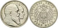5 Mark 1906 G Baden, Großherzogtum Friedrich I. 1856-1907 Leicht ber., ... 180,00 EUR  +  14,90 EUR shipping