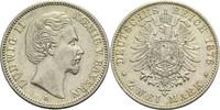 2 Mark 1876 D Bayern, Königreich Ludwig II. 1864-1886 vz  300,00 EUR  +  14,90 EUR shipping