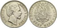 5 Mark 1876 D Bayern, Königreich Ludwig II. 1864-1886 Rf., ss+  95,00 EUR  +  14,90 EUR shipping