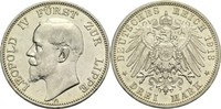 3 Mark 1913 A Lippe (-Detmold), Fürstentum Leopold IV. 1905-1918 vz-  490,00 EUR  zzgl. 6,90 EUR Versand