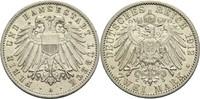 2 Mark 1912 A Lübeck, Freie und Hansestadt  vz-  210,00 EUR  zzgl. 6,90 EUR Versand