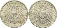 3 Mark 1908 A Lübeck, Freie und Hansestadt  Winz. Kr., St  250,00 EUR  zzgl. 6,90 EUR Versand