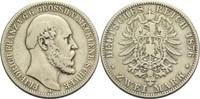 2 Mark 1876 A Mecklenburg-Schwerin, Großherzogtum Friedrich Franz II. (... 180,00 EUR  +  14,90 EUR shipping