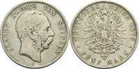 5 Mark 1876 E Sachsen Albert 1873-1902 ss  45,00 EUR  zzgl. 6,90 EUR Versand