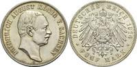 5 Mark 1907 E Sachsen Friedrich August III. 1904-1918 min. Rf., vz-  75,00 EUR  zzgl. 6,90 EUR Versand
