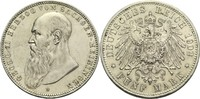 5 Mark 1902 D Sachsen-Meiningen Georg II. 1866-1914 ss-vz  480,00 EUR  zzgl. 6,90 EUR Versand