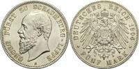 5 Mark 1904 A Schaumburg-Lippe Georg 1893-1911 winz. Rf., vz / St  2350,00 EUR  zzgl. 14,90 EUR Versand