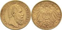 10 Mark 1890 F Württemberg, Königreich Karl 1864-1891 Min. Kr., ss+ / v... 525,00 EUR  zzgl. 6,90 EUR Versand