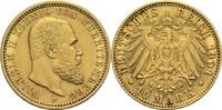 10 Mark 1901 F Württemberg, Königreich Wilhelm II. 1891-1918 vz-  285,00 EUR  zzgl. 6,90 EUR Versand