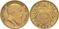 10 Mark 1907 G Baden, Großherzogtum Friedrich I. 1852-1907 ss+  420,00 EUR  +  14,90 EUR shipping