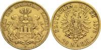 20 Mark 1876 J Hamburg Freie Hansestadt Rf., ss  300,00 EUR  zzgl. 6,90 EUR Versand