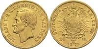 20 Mark 1873 E Sachsen, Königreich Johann 1854-1873 ss-vz  430,00 EUR  zzgl. 6,90 EUR Versand