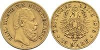 10 Mark 1876 F Württemberg, Königreich Karl 1864-1891 ss  210,00 EUR  zzgl. 6,90 EUR Versand
