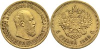 5 Rubel 1889 Russland Alexander III. ss  580,00 EUR  zzgl. 6,90 EUR Versand
