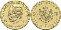 50 Franken 1990 Liechtenstein Fürst Hans Adam II. PP, berührt  460,00 EUR  zzgl. 6,90 EUR Versand