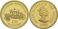 25 Pfund 1993 Alderney Elisabeth II.  PP  340,00 EUR  zzgl. 6,90 EUR Versand