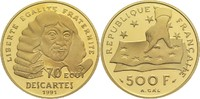 500 Francs (70 Ecu) 1991 Frankreich 5. Republik PP  650,00 EUR  zzgl. 14,90 EUR Versand