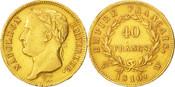 40 Francs 1810 W Frankreich Lille, SS+, Gold, KM:696.6, Gadoury:1084 SS+