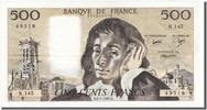 Banque De France  500 Francs 1981 unz- French Banknoten Frankreich 500 ... 157.11 US$