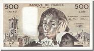 500 Francs 1991 Frankreich  AU(55-58)  70,00 EUR