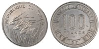 100 Francs 1971 (a) Chad  MS(65-70)  67.92 US$ 60,00 EUR  +  11.32 US$ shipping