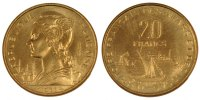 20 Francs 1968 (a) FRENCH AFARS & ISSAS  MS(65-70)  80,00 EUR  +  10,00 EUR shipping