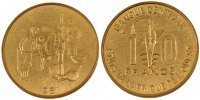 10 Francs 1981 (a) West African States  MS(65-70)  70,00 EUR  + 6,00 EUR frais d'envoi