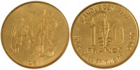 West Africa 10 Francs 1981 PROOF Foreign Coins Münzen West Africa, repub... 70,00 EUR