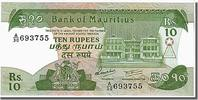 Mauritius 10 Rupees Foreign Banknoten Mauritius, 10 Rupees type 1985