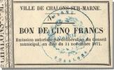 French Emergency of the 1870-1871 War 5 Francs 1871 Châlons-Sur-Marne un... 300,00 EUR