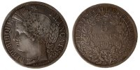 Semi Moderns (1805-1899) 5 Francs 1849 Strasbourg ss French Moderns Fran... 7798 руб