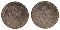 Semi Moderns (1805-1899) 5 Francs 1868 Paris ss+ Napoléon III, 5 Francs ... 90,00 EUR