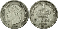 Semi Moderns (1805-1899) 20 Centimes 1868 Strasbourg ss French Moderns F... 60,00 EUR