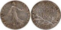 50 Centimes 1904 Paris France Semeuse AU(50-53)  80,00 EUR  +  10,00 EUR shipping