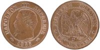 Semi Moderns (1805-1899) 1 Centime 1855 Lyon unz- French Moderns Frankre... 200,00 EUR