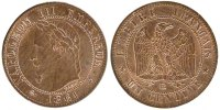 Semi Moderns (1805-1899) 1 Centime 1861 Strasbourg unz- French Moderns F... 4159 руб