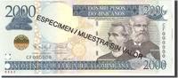 2000 Pesos Dominicanos 2011 Dominican Republic Undated, KM:187s UNZ  130,00 EUR  +  10,00 EUR shipping
