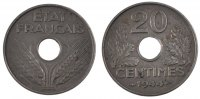 Moderns (1900-1958) 20 Centimes 1944 unz- French Moderns Frankreich Fren... 150,00 EUR