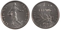 Fifth Republic (1959-2001) 1/2 Franc French Moderns Frankreich Vth Republic, 1/2 Franc Semeuse