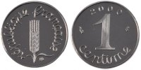 Fifth Republic (1959-2001) 1 Centime 2000 PROOF Vème République, 1 Centi... 60,00 EUR